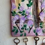 Дървена къщичка за ключове