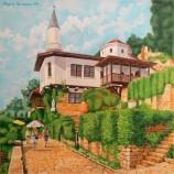 Двореца в Балчик . Маслена картина .