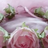 Венче от копринени рози