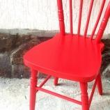 Стол винтидж червен