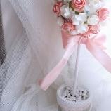 Топиарий дърво на щастието розов сватба