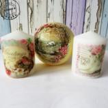 Ръчно декорирани свещи