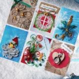 Коледни картички - ръчна изработка