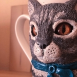 buy Ръчно декорирана чаша за кафе/чай с котка in Bazarino