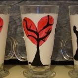 Прекрасни чаши за Кафе ръчно изрисуване..