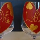 Чаши за Св.Валентин комплект с текстилна торбичка.