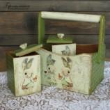 buy Дървена кошничка със зайчета in Bazarino