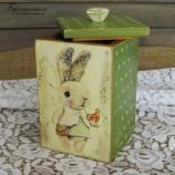 buy Дървена кутия със зайче - захарно петле in Bazarino