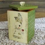 buy Дървена кутия със зайче - близалка сърце in Bazarino