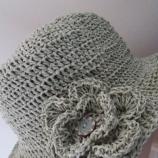 Ръчно изработена шапка от хартиена прежда Рафия