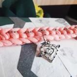 Чоукър в Розово с Висулка Сърце