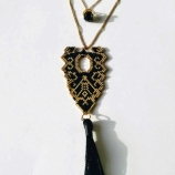 buy Колие,,Boho Gold & Black,, in Bazarino
