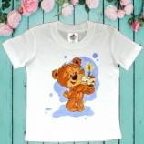 buy Ръчно рисувана памучна детска тениска, размер 1-2Y in Bazarino