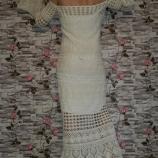 Бяла дълга рокля на една кука / Булченска рокля на една кука