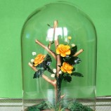 рози в стъклен купол