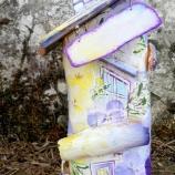 buy Дървена декоративна къщичка с теменужки in Bazarino