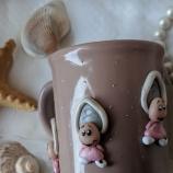 Чаша с декорация мидички