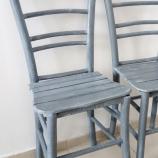 Дървени столове винтидж ретро сиви