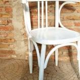 Виенски стол винтидж бял шабби шик