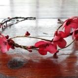венче с цветя от коприна