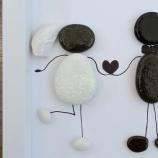 Подарък за младоженци от морски камъчета