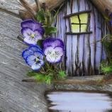 Декоративна къщичка с табелка