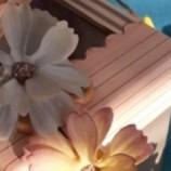 венче с цветя от плат