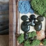buy Пано с морски камъчета и скандинавски мъх  in Bazarino