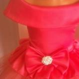 Детка рокличка в цвят диня