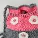 buy Плетена детска чантичка, украсена с плетени цветя и копченца in Bazarino