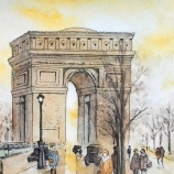 Original Watercolor Painting - The Arch Of Triumph