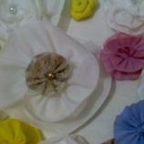 цвете от текстил