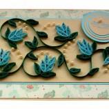Сини цветя с перлички