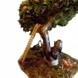 ръчно изработено дръвче с полянка