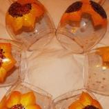 Рисувани стъклени чаши - Слънчогледи