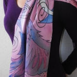Ръчно рисуван сатенен шал -