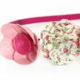 Диадема венче в розово и цикламено