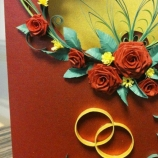 Луксозна поздравителна картичка за сватба