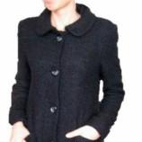 Черно ретро палто