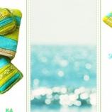 Синьо-зелен летен несесер