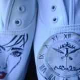 Дамски ръчно рисувани гуменки
