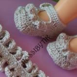плетени обувчици и лента за глава