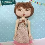 Ръчно правена колекционерска кукла Дора