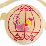 Детска чантичка с птица