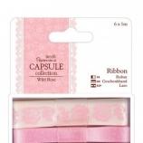 Сет от 4бр декоративни панделки по 1m всяка - Light pink