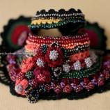 Българска черга - плетена гривна на една кука
