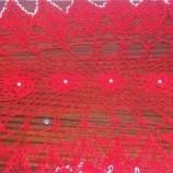 Покривка в три цвята,изплетена на една кука