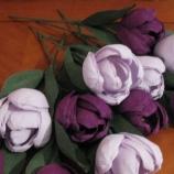 хартиени лалета-светло и тъмно лилави