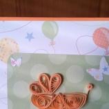 квилинг картичка за бебе