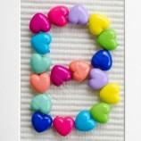 Букви с цветни сърчица